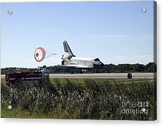 Space Shuttle Atlantis Unfurls Its Drag Acrylic Print by Stocktrek Images