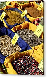 Spices On The Market Acrylic Print by Elena Elisseeva