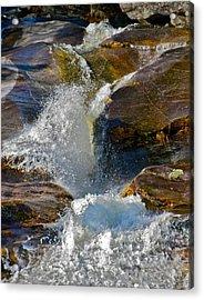 Step Falls Splash 2 Acrylic Print by George Ramos