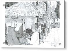 Street Eats Acrylic Print by Larry Oldham