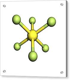 Sulphur Hexafluoride Molecule Acrylic Print by Friedrich Saurer