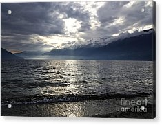 Sunlight Over A Lake Acrylic Print