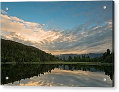 Sunrise Above A Lake On A Wind Still Morning Acrylic Print by Ulrich Schade