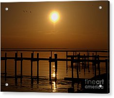 Sunset At Cobb Island Acrylic Print
