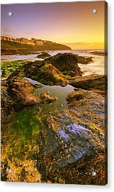 Sunset By The Ocean Acrylic Print by Jaroslaw Grudzinski