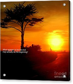 Sunset In Santa Cruz Acrylic Print