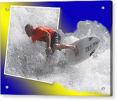 Surfer  Acrylic Print by Jeanne Andrews