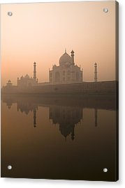Taj Mahal, Agra, India Acrylic Print by Keith Levit