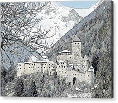 Taufers Knights Castle Valle Aurina Italy Acrylic Print by Joseph Hendrix