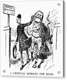 Teddy Roosevelt Cartoon Acrylic Print by Granger