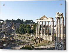 Temple Of Saturn In The Forum Romanum. Rome Acrylic Print