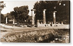 Temple Of Zeus, Olympia, Greece Acrylic Print by Photo Researchers