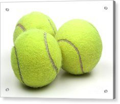 Tennis Balls Acrylic Print by Blink Images
