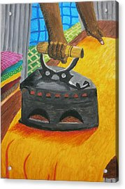 The Dhobi's Iron  Acrylic Print by Adam Wai Hou