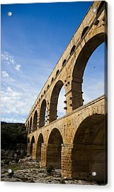 The Famous Pont Du Gare In France Acrylic Print by Taylor S. Kennedy
