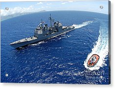 The Guided-missile Cruiser Uss Acrylic Print by Stocktrek Images