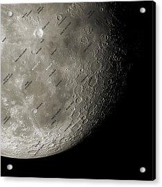 The Moon From Space, Artwork Acrylic Print by Detlev Van Ravenswaay