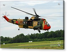 The Sea King Helicopter Of The Belgian Acrylic Print by Luc De Jaeger