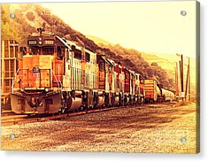 Union Pacific Locomotive Trains . 7d10563 Acrylic Print by Wingsdomain Art and Photography