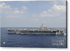 Uss Abraham Lincoln Transits The Indian Acrylic Print by Stocktrek Images