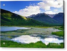 Vermillion Lakes Acrylic Print by Ginevre Smith