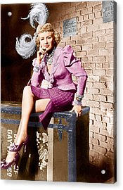 Wabash Avenue, Betty Grable, 1950 Acrylic Print by Everett