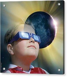Watching Solar Eclipse Acrylic Print by Detlev Van Ravenswaay