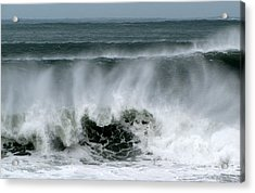 Acrylic Print featuring the photograph Waves by Barbara Walsh