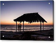 Windansea Beach Hut One Acrylic Print by Josh Whalen