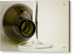 Wine Bottle Acrylic Print by Blink Images