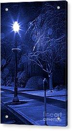 Winter Sidewalk Blues Acrylic Print by John Stephens