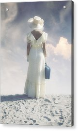 Woman With Suitcase Acrylic Print by Joana Kruse