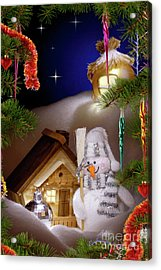 Wonderful Christmas Still Life Acrylic Print by Oleksiy Maksymenko