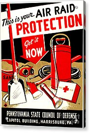 World War II Poster, C1943 Acrylic Print by Granger