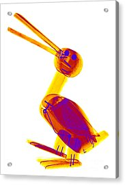 X-ray Of A Wooden Duck Toy Acrylic Print by Ted Kinsman