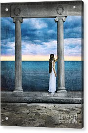 Young Woman As A Classical Woman Of Ancient Egypt Rome Or Greece Acrylic Print by Jill Battaglia