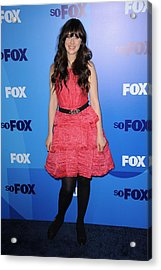 Zooey Deschanel At Arrivals For Fox Acrylic Print