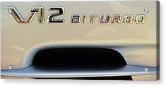 2009 Biturbo V12 Mercedes Acrylic Print
