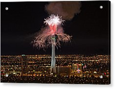 2011 New Year's Fireworks - The Stratosphere Acrylic Print