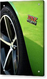 2012 Dodge Challenger 392 Hemi - Green With Envy Acrylic Print by Gordon Dean II