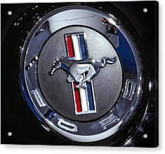 2012 Ford Mustang Trunk Emblem Acrylic Print