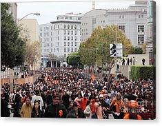 2012 San Francisco Giants World Series Champions Parade Crowd - Dpp0001 Acrylic Print by Wingsdomain Art and Photography