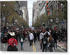 2012 San Francisco Giants World Series Champions Parade Crowd - Dpp0002 Acrylic Print by Wingsdomain Art and Photography