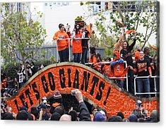 2012 San Francisco Giants World Series Champions Parade - Dpp0004 Acrylic Print by Wingsdomain Art and Photography