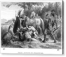 Pocahontas (1595?-1617) Acrylic Print by Granger
