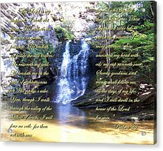 Acrylic Print featuring the photograph 23rd Psalm by Chad and Stacey Hall