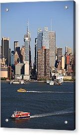 New York City Skyline Acrylic Print by Frank Romeo
