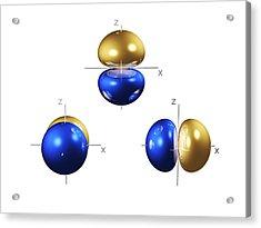2p Electron Orbitals Acrylic Print by Dr Mark J. Winter