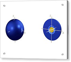 2s Electron Orbital Acrylic Print by Dr Mark J. Winter