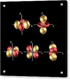 3d Electron Orbitals Acrylic Print by Dr Mark J. Winter